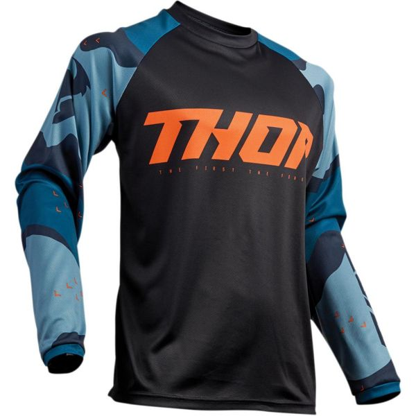 Tricouri MX-Enduro Thor Tricou Sector Camo Blue S9