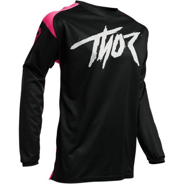 Tricouri MX-Enduro Thor Tricou Sector Link S20 Black/Pink