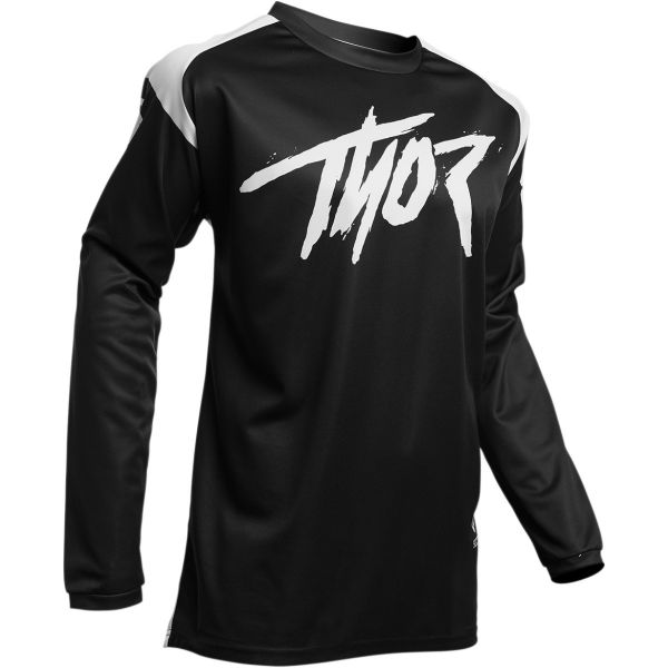 Tricouri MX-Enduro Thor Tricou Sector Link S20 Black/White