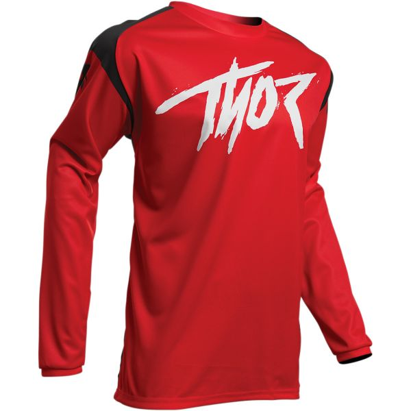 Tricouri MX-Enduro Thor Tricou Sector Link S20 Red/Black
