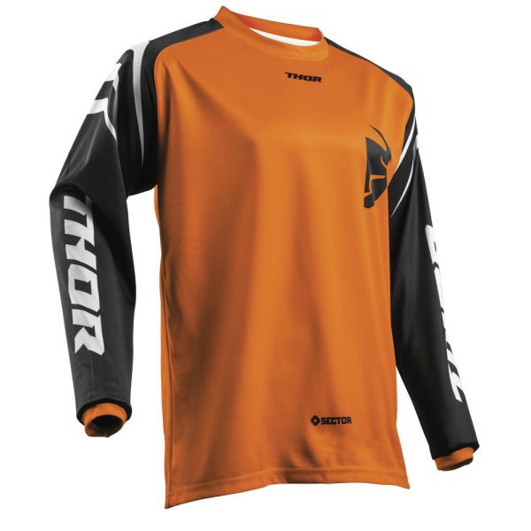 Tricouri MX-Enduro Copii Thor Tricou Sector Zones Orange S8 Copii