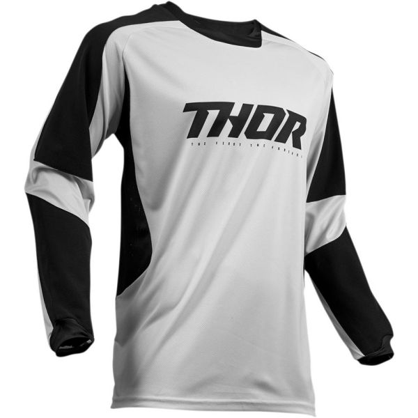 Tricouri ATV Thor Tricou Terrain Gear Light Gray/Black S9
