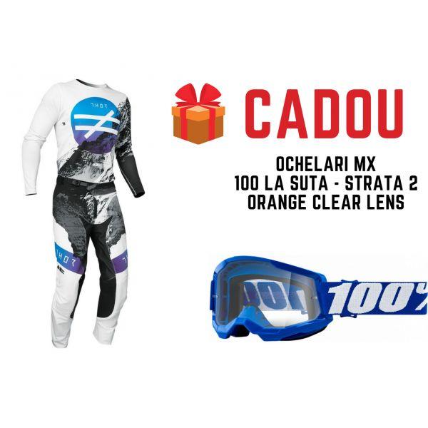 Combo MX Enduro Thor Combo Pantaloni+Tricou Prime Pro United Mesmer Blue 2021