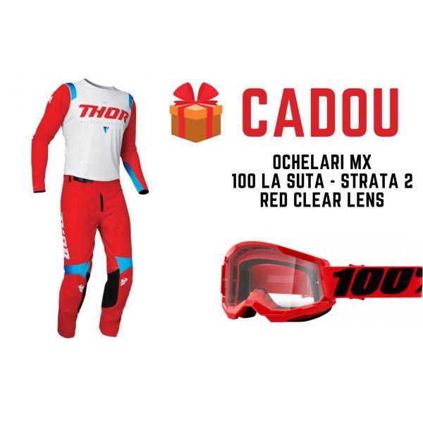 Combo MX Enduro Thor Combo Pantaloni+Tricou Prime Pro United Red 2021