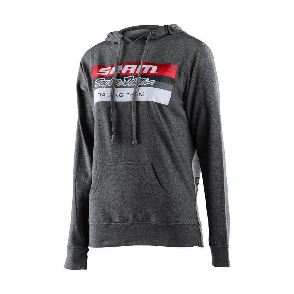 Geci/Hanorace Casual Troy Lee Designs Hanorac Dama SRAM Racing Block Gunmetal Heather