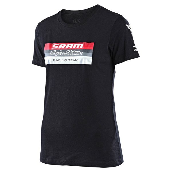 Tricouri/Camasi Casual Troy Lee Designs Tricou Dama SRAM Racing Block Black