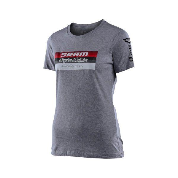 Tricouri/Camasi Casual Troy Lee Designs Tricou Dama SRAM Racing Block Heather Grey