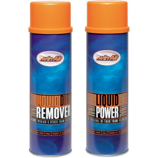 Ulei filtre aer Twin Air Spray Curatare Liquid Power + Dirt Remover 2X500 ML