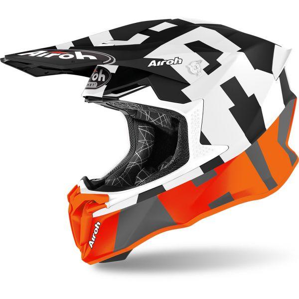 Casti MX-Enduro Airoh Casca Moto MX Twist 2.0 Frame Orange Matt 2020