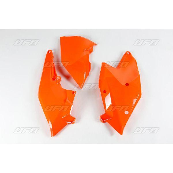 Plastice MX-Enduro Ufo Panouri Laterale Si Protectie Capac Filtru Aer KTM EXC 2017-2019 Fluo Portocaliu