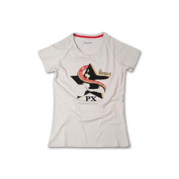Tricouri/Camasi Casual Vespa Ladies Casual T-Shirt Star Beige 2020