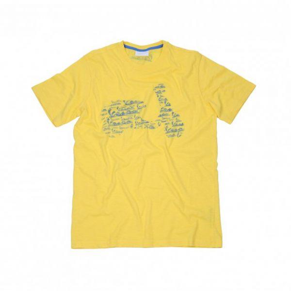 Tricouri/Camasi Casual Vespa Logo Yellow Casual T-Shirt 2020