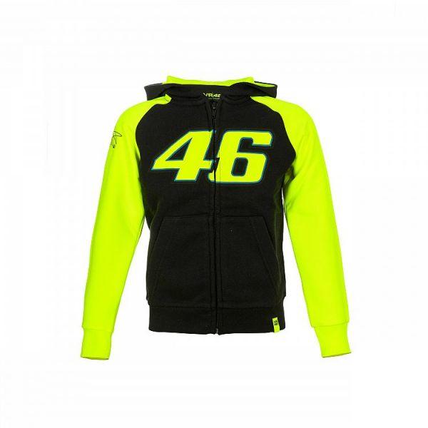 Imbracaminte Copii VR46 Hanorac Full Zipp Hoodie Race Black VRKFL308304 Copii
