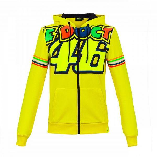 Geci/Hanorace Casual VR46 Hanorac FZ Hoodie Rossi Stripes Yellow VRMFL305301