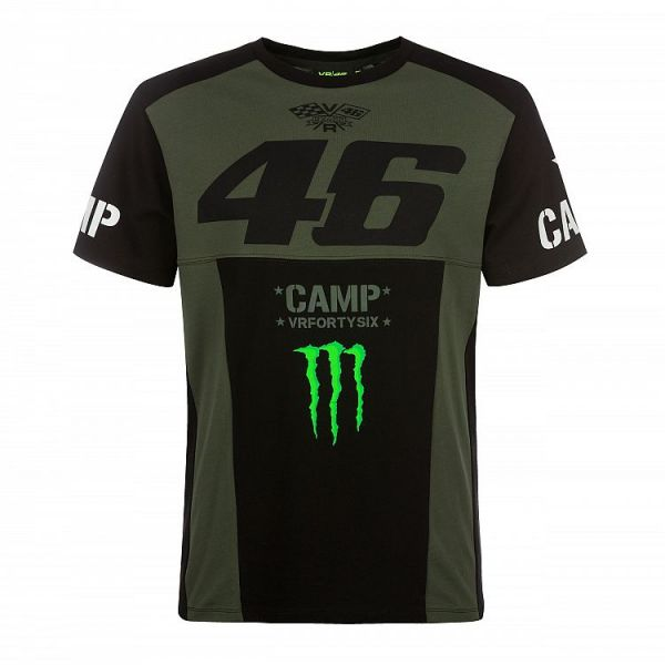 Tricouri/Camasi Casual VR46 Tricou Camp Green Black (CAMTS359808)