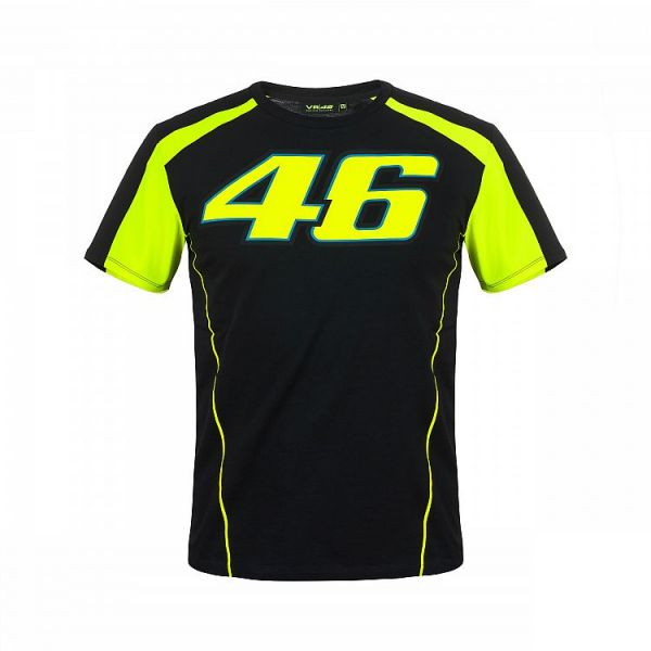 Tricouri casual VR46 Tricou Race Black (VRMTS306004)