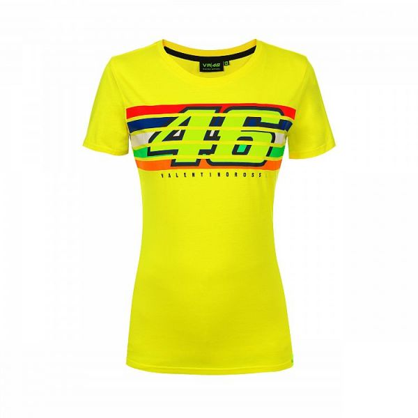 Tricouri casual VR46 Tricou Stripes Yellow Dama 2019 (VRWTS352501)
