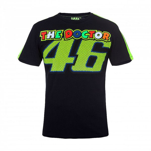 Tricouri Casual VR46 Tricou VR46 The Doctor Black
