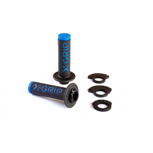 Mansoane Enduro-MX X-Grip Mansoane Lock-On Braaaap Black/Blue