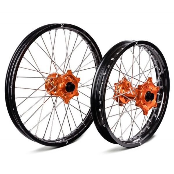 Jante si Roti X-Grip Set Roata Fata+Spate KTM/Husqvarna XG-1780-KH Black/Orange