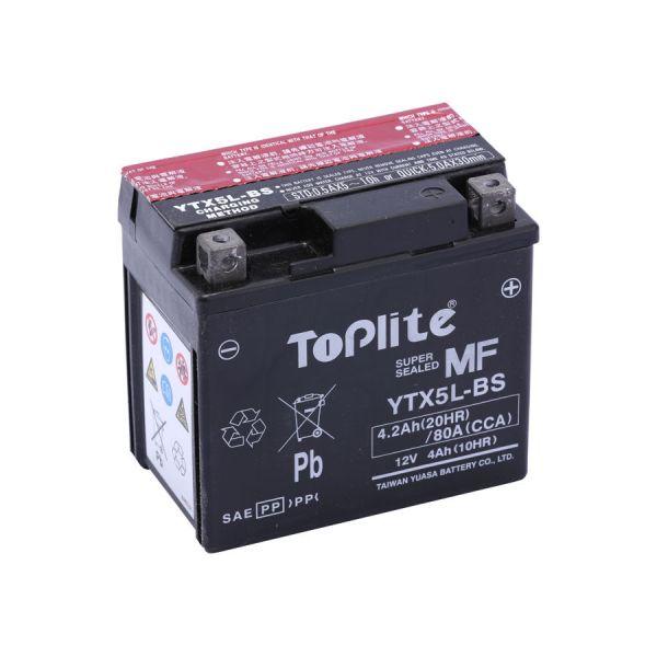 Acumulatori Fara Intretinere Yuasa Toplite TOPLITE YUASA - YTX5L-BS = YT5L-BS (FARA INTR., INCL. ACID)
