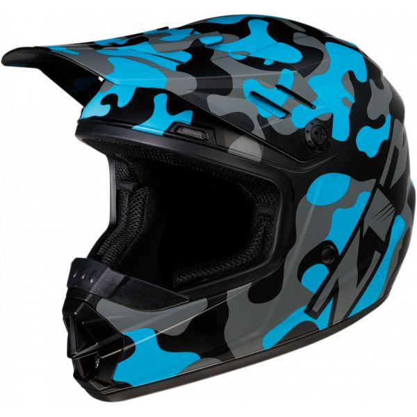 Casti MX-Enduro Copii Z1R Casca MX Copii Rise Camo Albastru 2020