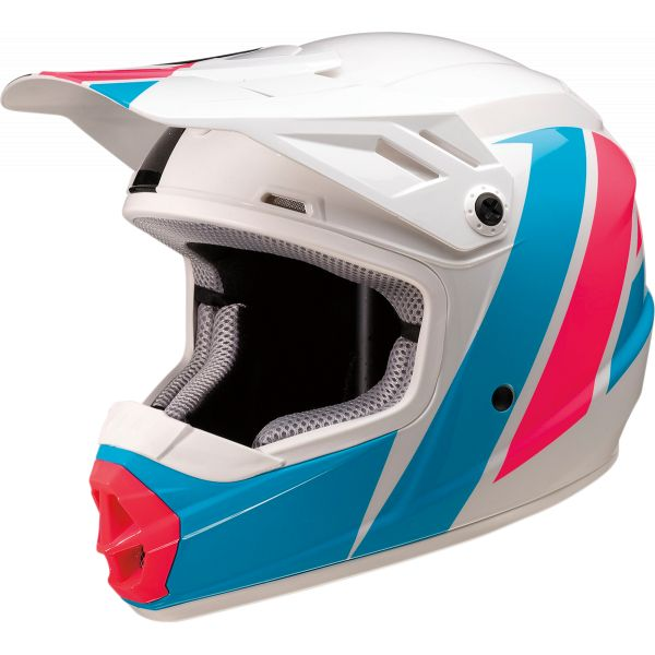 Casti MX-Enduro Copii Z1R Casca MX Copii Rise Evac White/Pink/Blue 2020