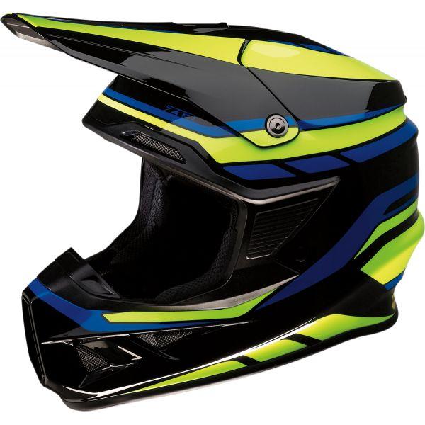 Casti MX-Enduro Z1R Casca Moto MX Fi Flank Negru/Galben/Albastru 2020