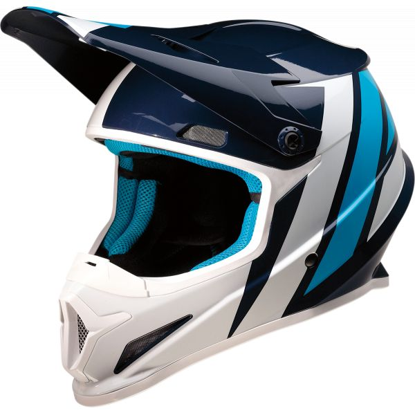 Casti MX-Enduro Z1R Casca MX Rise Evac Albastru/Alb 2020