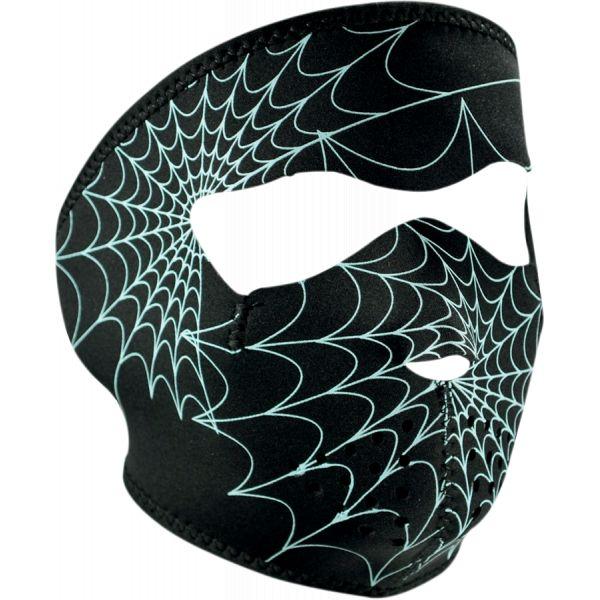 Cagule si Termice ZanHeadGear Masca Fata Full Face Glow-in-the-dark Spider Web One Size Wnfm057g 2021