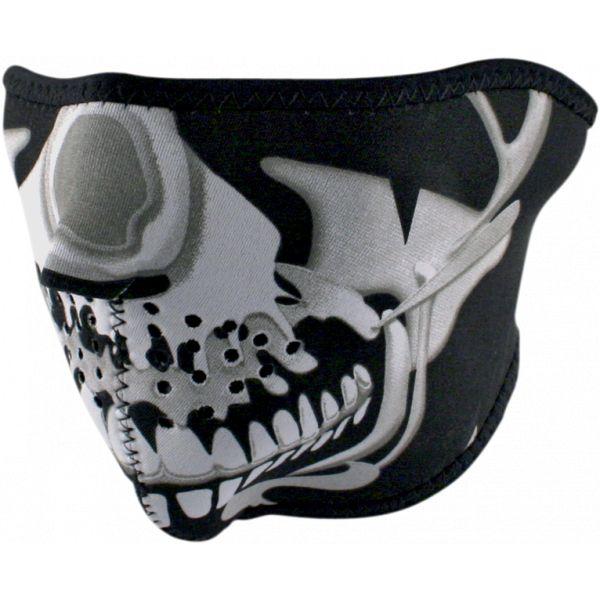 Cagule si Termice ZanHeadGear Masca Fata Half Face Chrome Skull One Size Wnfm023h 2021