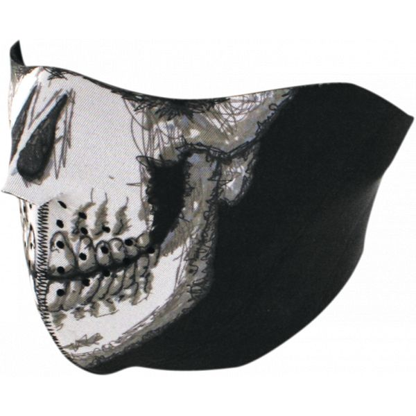 Cagule si Termice ZanHeadGear Masca Fata Half Face Skull Face One Size Wnfm002h 2021