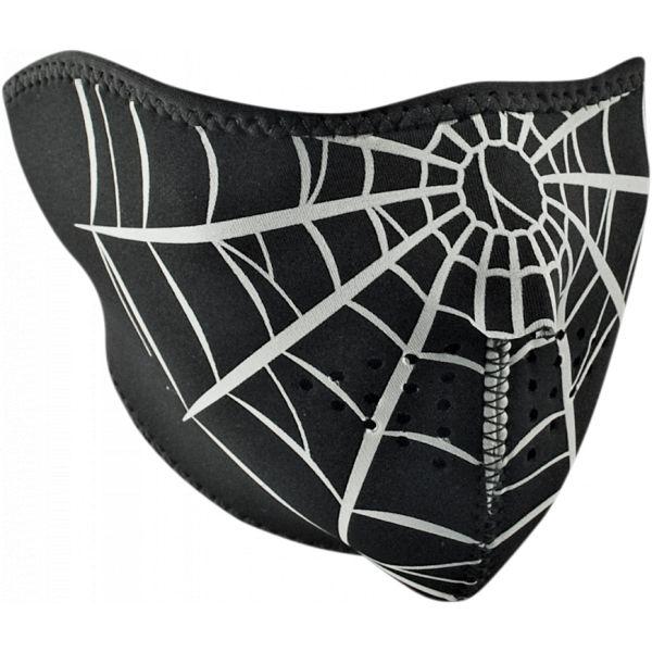 Cagule si Termice ZanHeadGear Masca Fata Half Face Spider Web One Size Wnfm055h 2021