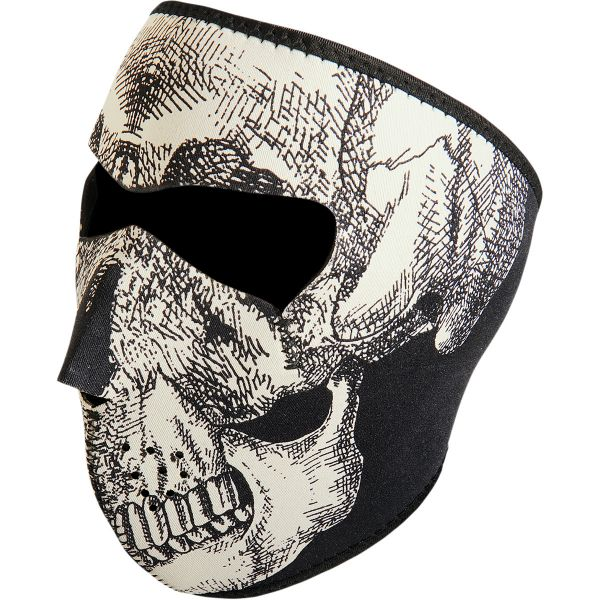 ZanHeadGear Masca Full Face Glow-In-The-Dark Skull One Size