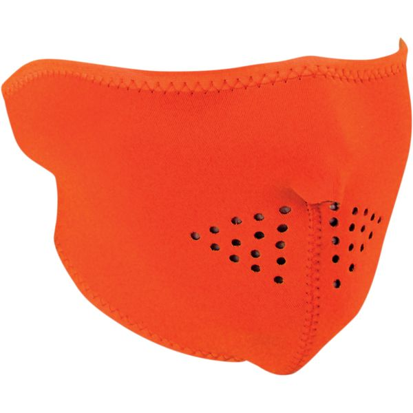 ZanHeadGear Masca Half Face High-Visibility Orange One Size