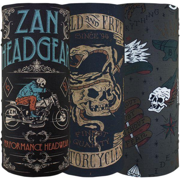 Cagule & Masti ZanHeadGear Protectie Gat Vintage 3 Pack One Size