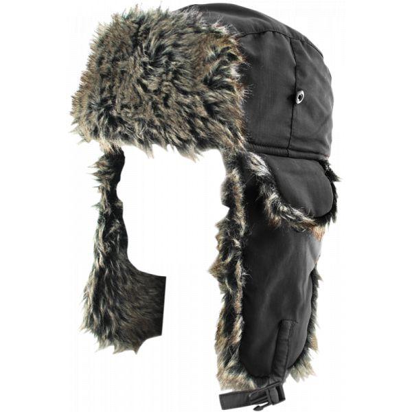 Caciuli ZanHeadGear Trooper Hat Solid Black/ Gray Fur One Size Wth114 2021