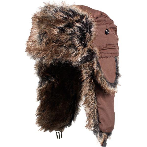 ZanHeadGear Trooper Hat Solid Brown/ Brown Fur One Size