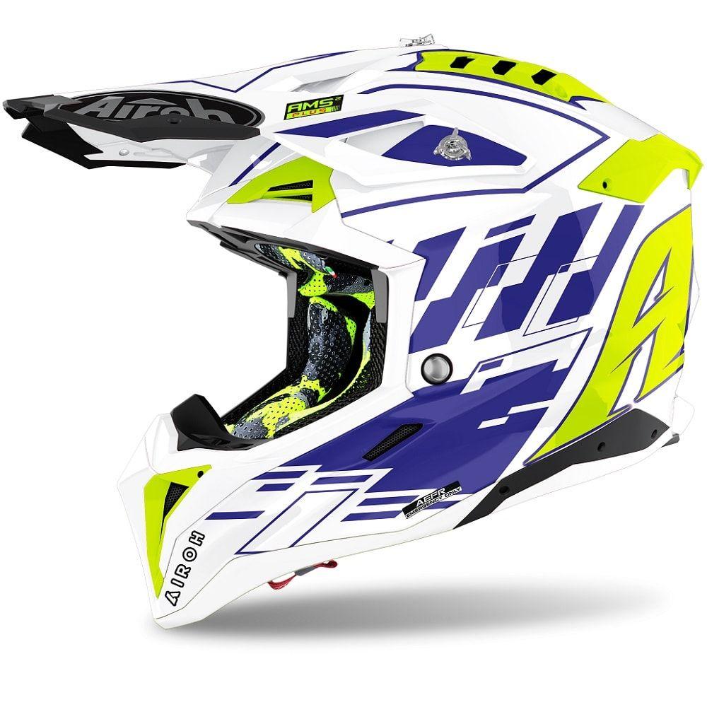 Casca Moto MX Aviator 3 Rampage Blue Gloss 2021