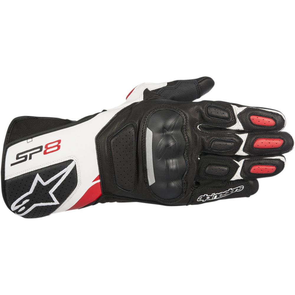 Manusi Piele SP-8 V2 Black/White/Red 2020
