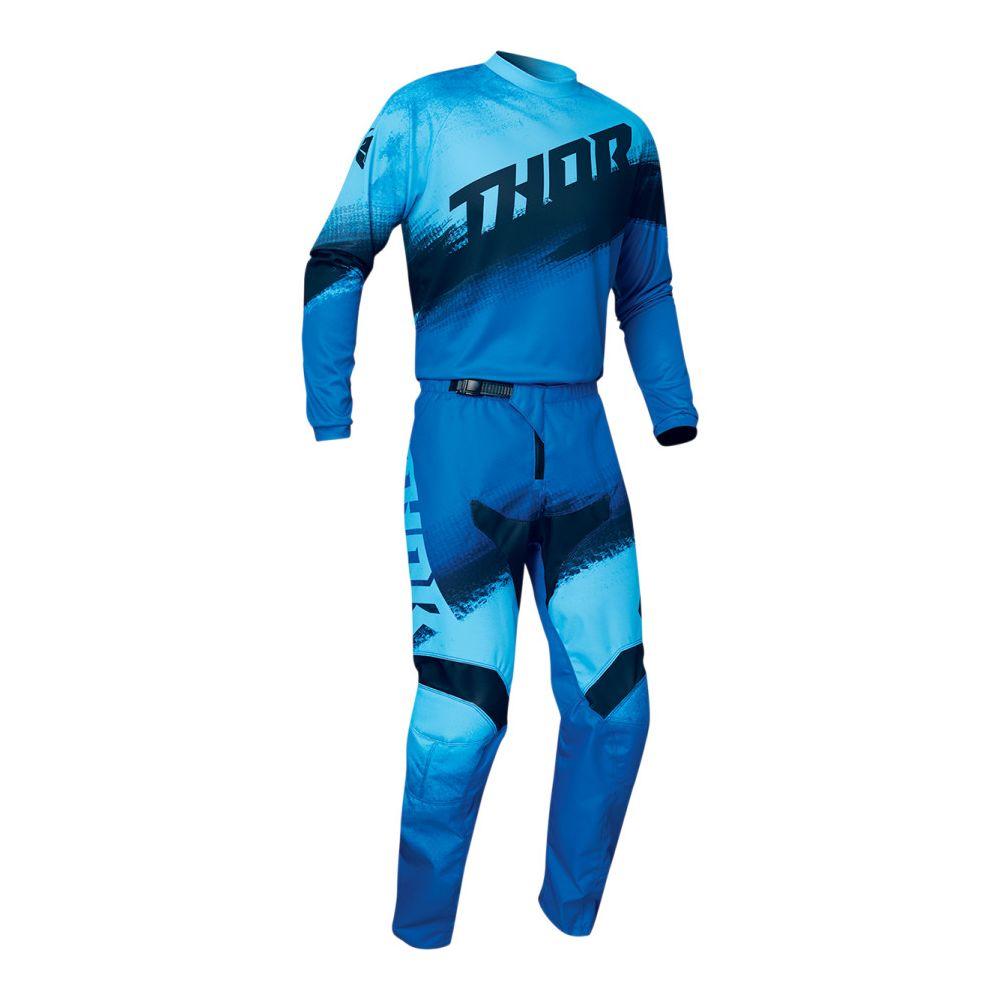 Combo Tricou + Pantaloni Sector Vapor Multicolor Albastru 2020
