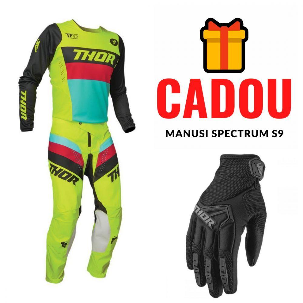 Combo Pantaloni + Tricou Pulse Racer Multicolor Galben 2021