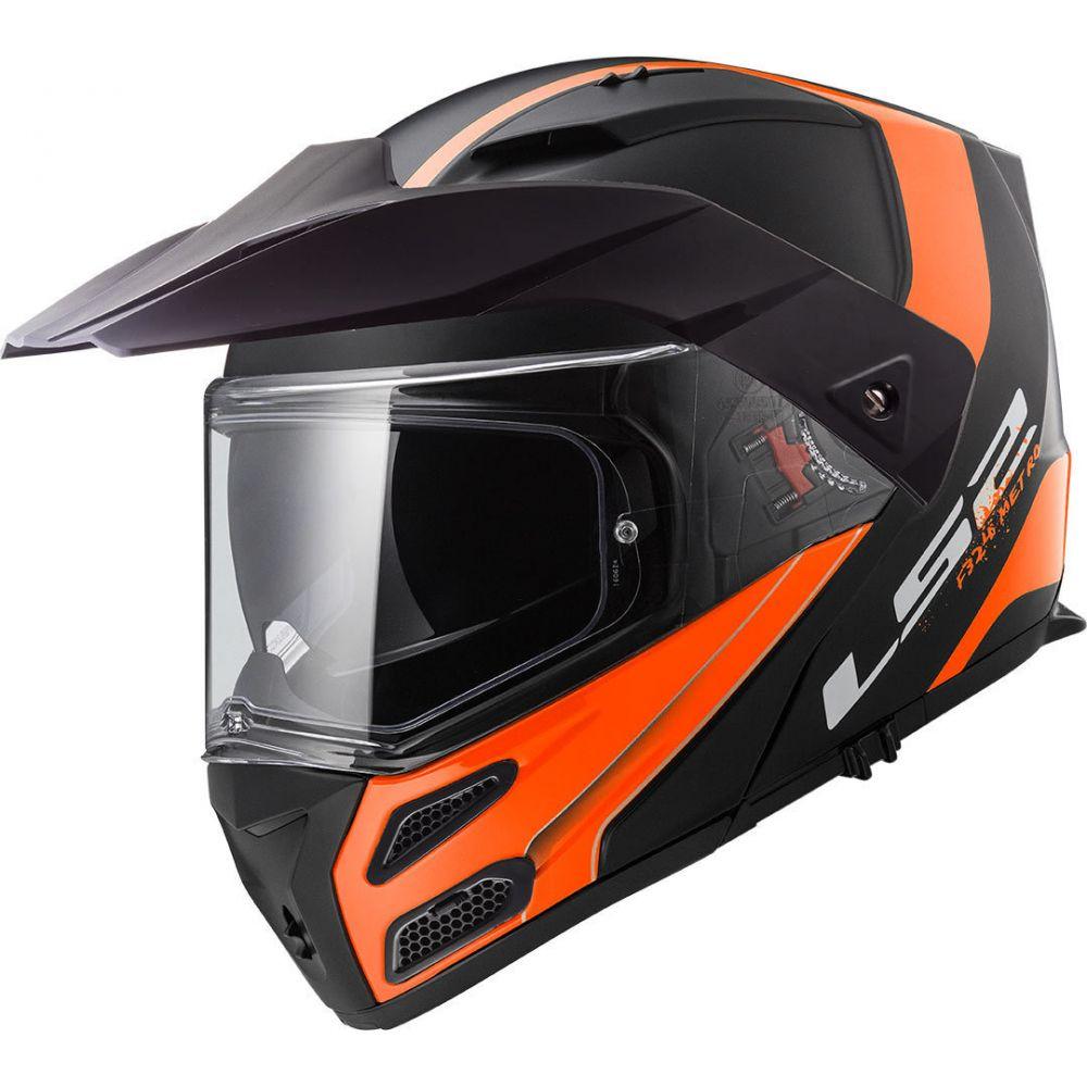Casca Flip-Up FF324 Metro Evo Rapid Matt Black/Orange 2019