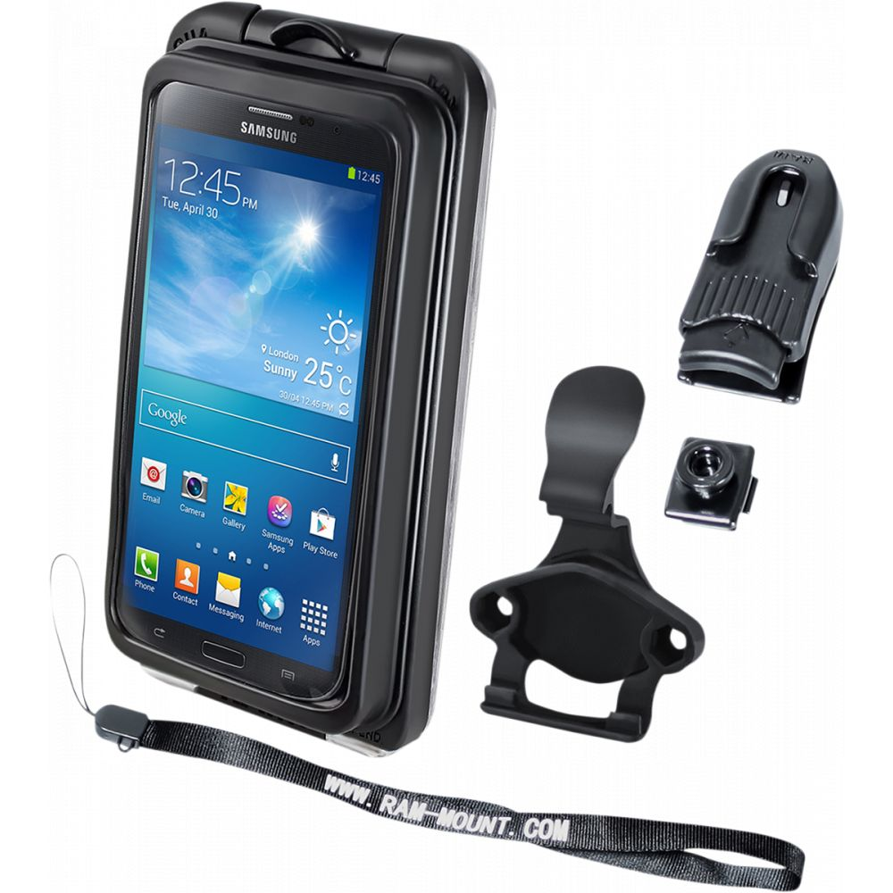 Suport Dispozitiv Aqua Box Pro 20 Iphone 3/4/5 Case And Clip Transparent Composite Black - Ram-holaq7-2cou